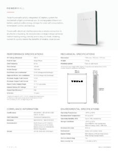 Powerwall - Data Sheet