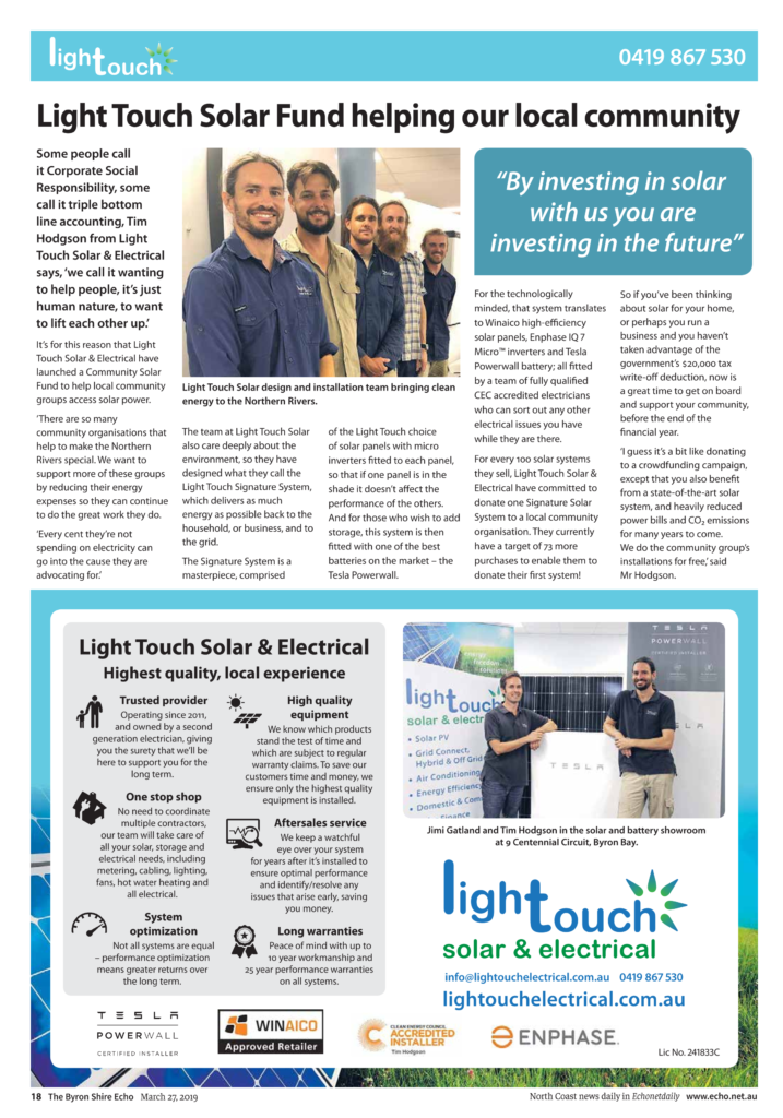 Light Touch - Article